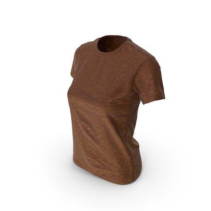 Женская футболка Коричневый