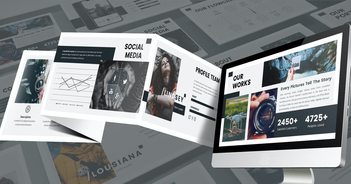 Download Obscura - Monochrome Google Slides Template by SlideFactory