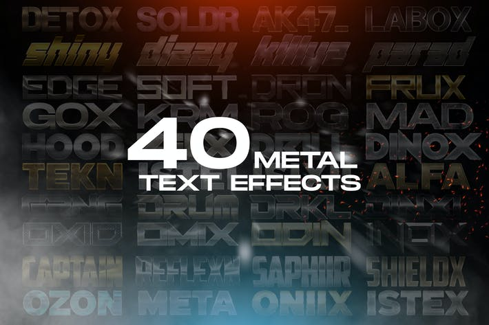 Thumbnail for 40 Metal Text Effects - Photoshop Layer Styles