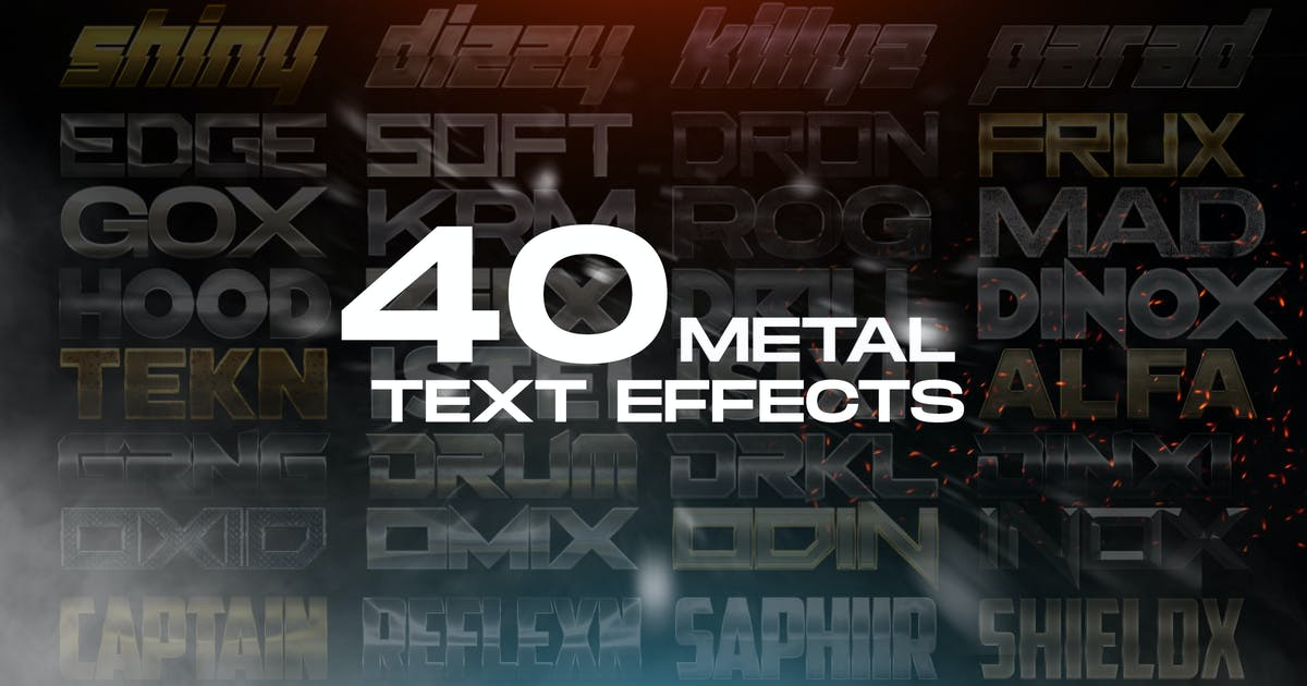 Download 40 Metal Text Effects - Photoshop Layer Styles by SupremeTones