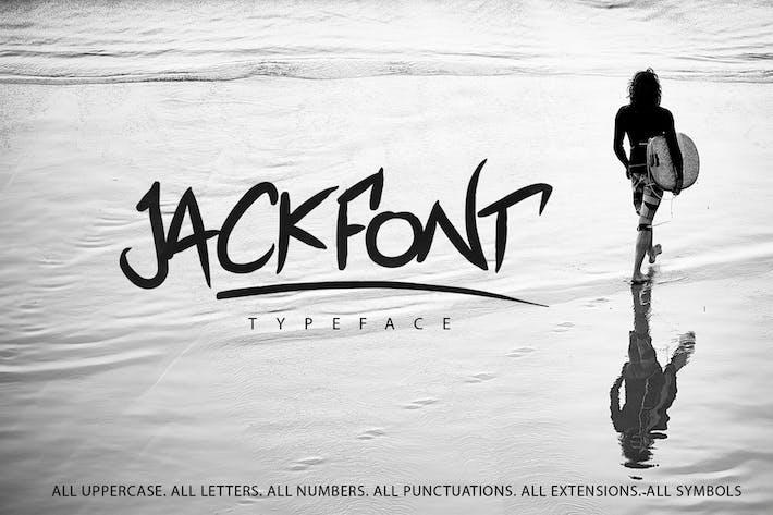 Thumbnail for Jackfont Script Typeface