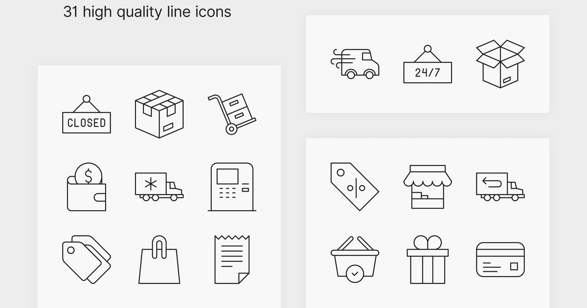Download E-commerce Icons by polshindanil