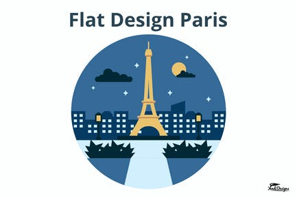 Flat Design Paris