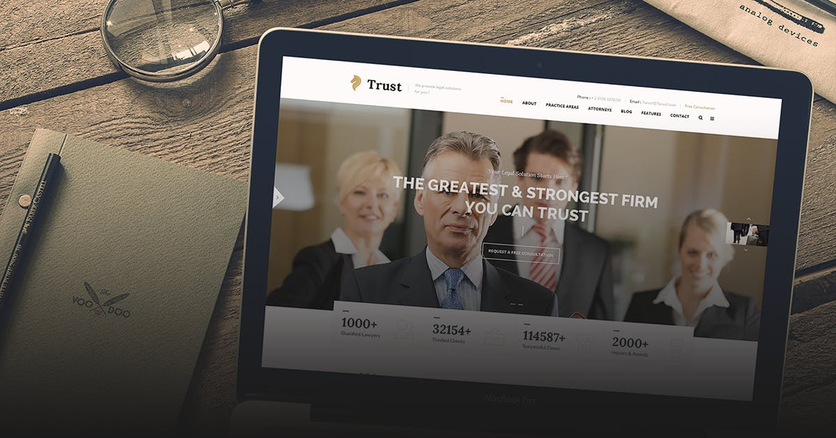 Download Trust - Lawyer & Attorney Business HTML Template by 7oroof