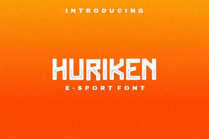 Thumbnail for Huriken E-Sport Font