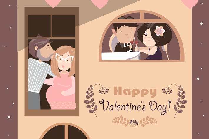 Thumbnail for House full of couples in love