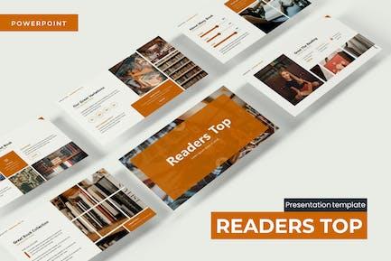 Readers Top  - Powerpoint Template