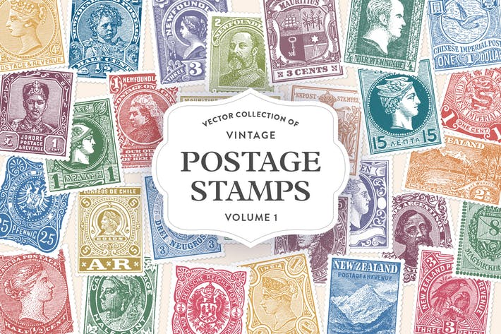 Thumbnail for Vintage Postage Stamps Vol. 1