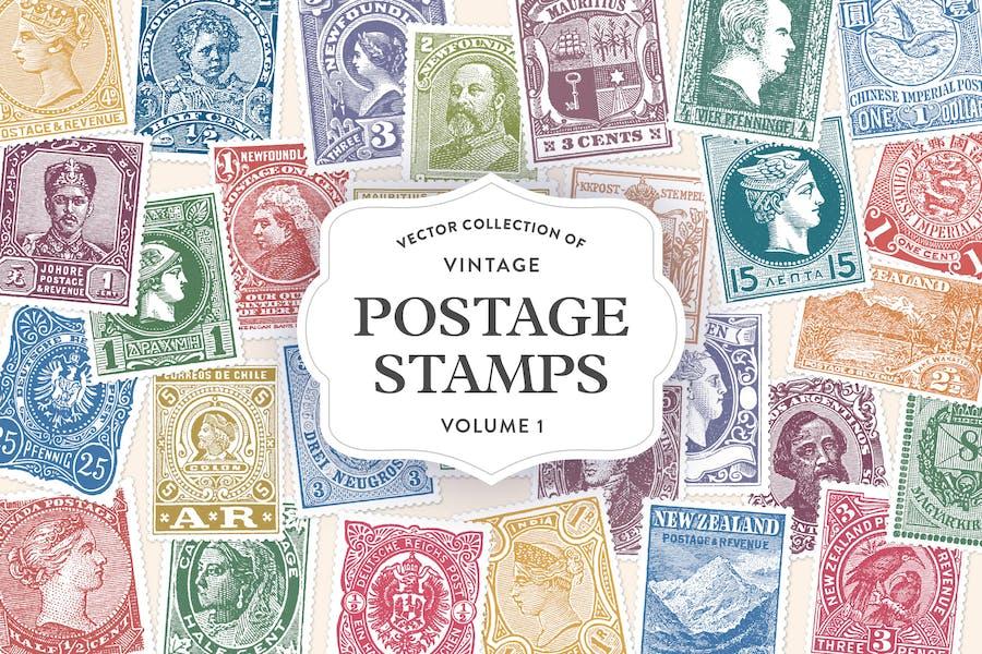 Vintage Postage Stamps Vol. 1