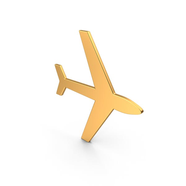 Thumbnail for Airplane Symbol Gold