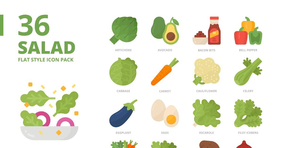 Download Salad Flat Style Icon Set by monkik