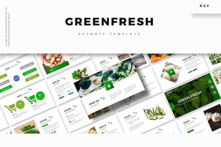 Thumbnail for Зеленый свежий - Шаблон Keynote