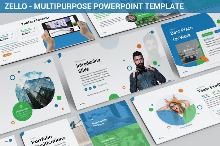 Thumbnail for Zello - Multipurpose Powerpoint Template