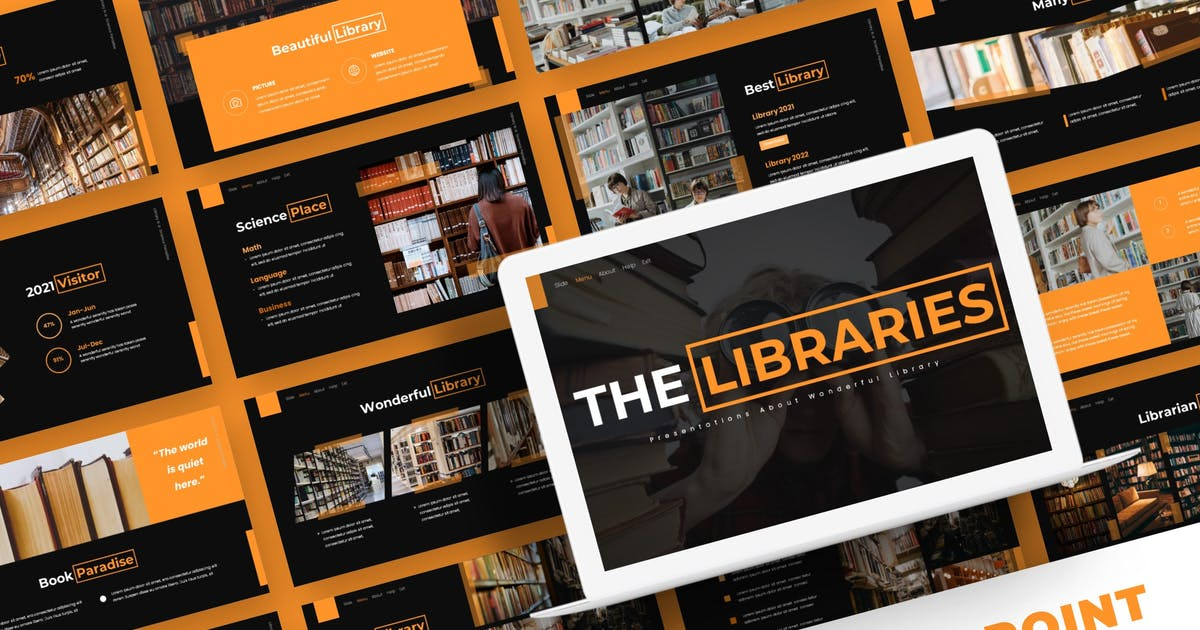 Download The Libraries - Powerpoint Template by karkunstudio