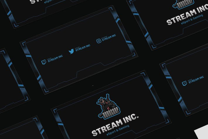 Thumbnail for Streamer eSports & Gaming Business Card