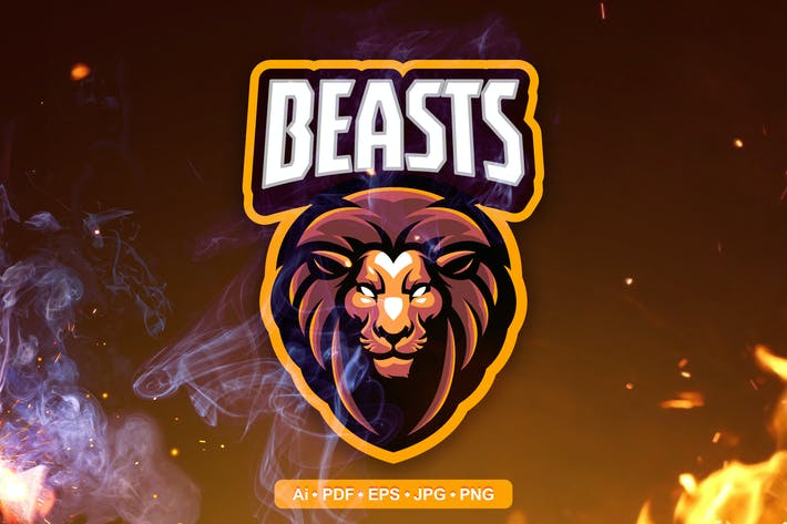 Thumbnail for Lion Head Esports and Sports mascot Logo