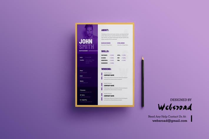 Creative Resume & CV Template by websroad on Envato Elements