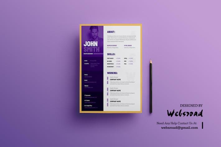 thumbnail for creative resume cv template