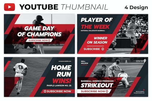 Baseball Player Youtube Thumbnail Template