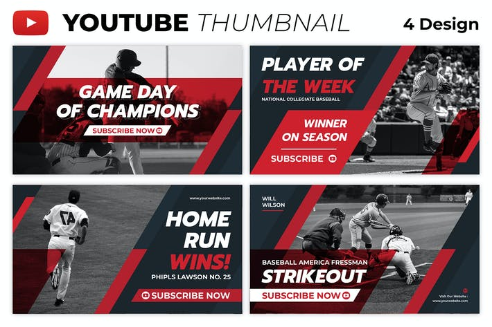 Baseball Player Youtube Thumbnail Template
