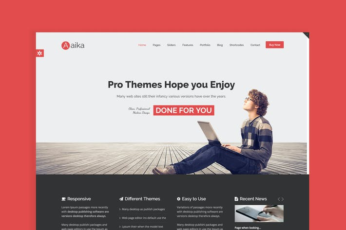 Cover Image For Aaika - Responsive Multipurpose Joomla Template