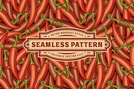 Nahtloses Chili-Pepper Muster
