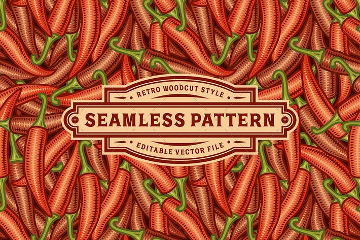 Thumbnail for Seamless Chili Pepper Pattern