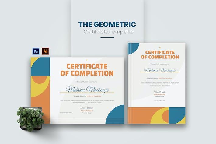 Thumbnail for Сертификат геометрической концепции