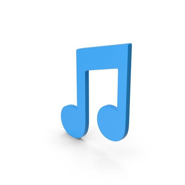 Symbol Musiknote Blau