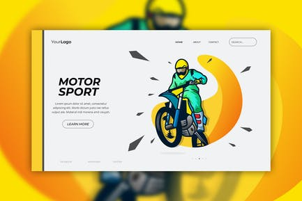 Motor Sport - Web Header Vector Template