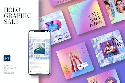 Holografischer Verkauf Instagram