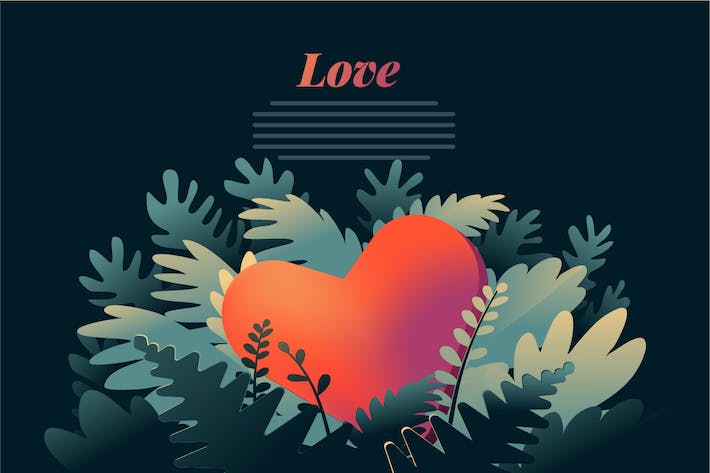 Cover Image For Organic love. vintage design graphic
