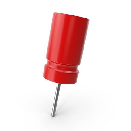 Roter Push Pin