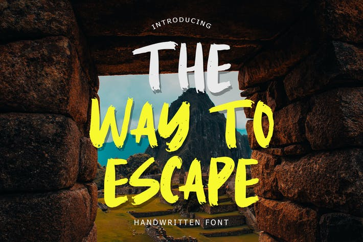 The Way To Escape Handwritten Brush Font