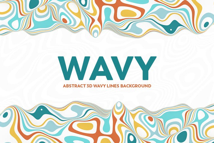 Thumbnail for Abstract 3D Wavy Lines Background - Multi color