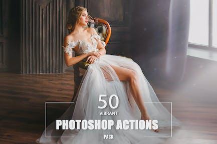 50 Vibrant Photoshop Actions