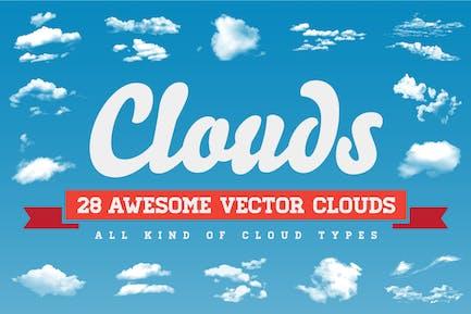 Nubes - 28 Nubes Vector Todo Tipo de Nube