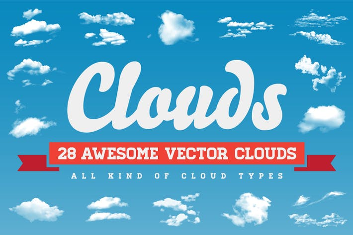 Thumbnail for Clouds - 28 Vector Clouds All Kind of Cloud Types