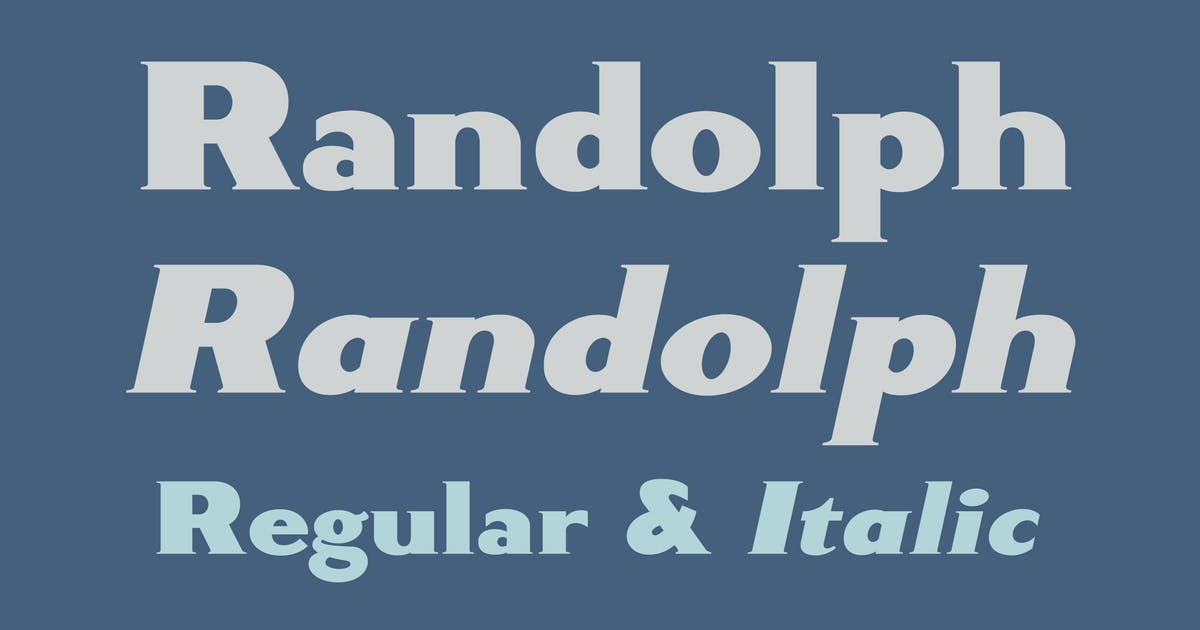 Download Randolph by WalcottFonts