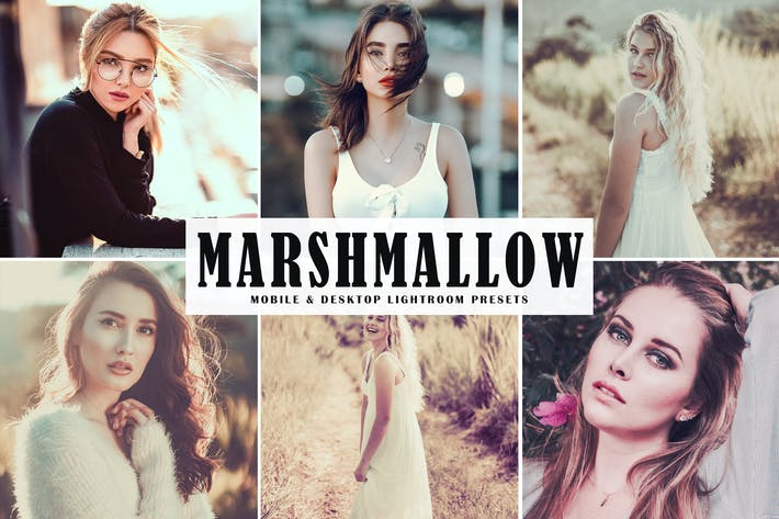 Cover Image For Marshmallow Mobile & Desktop Lightroom Presets