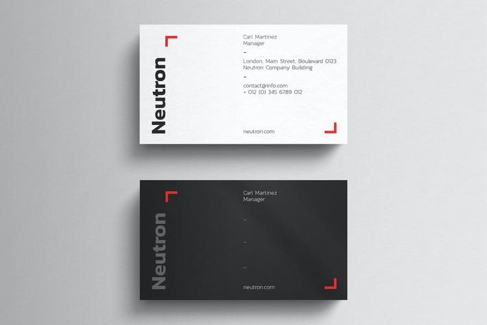 Thumbnail for Simple Black Business Card Template