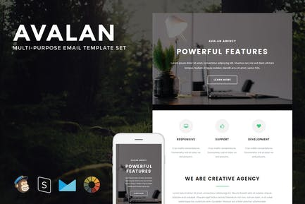 Avalan - Responsive Email + StampReady Builder