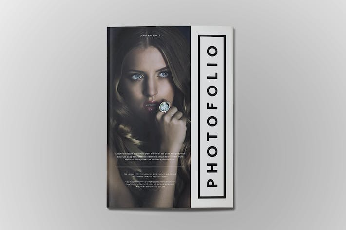 Thumbnail for A4 Photofolio Template
