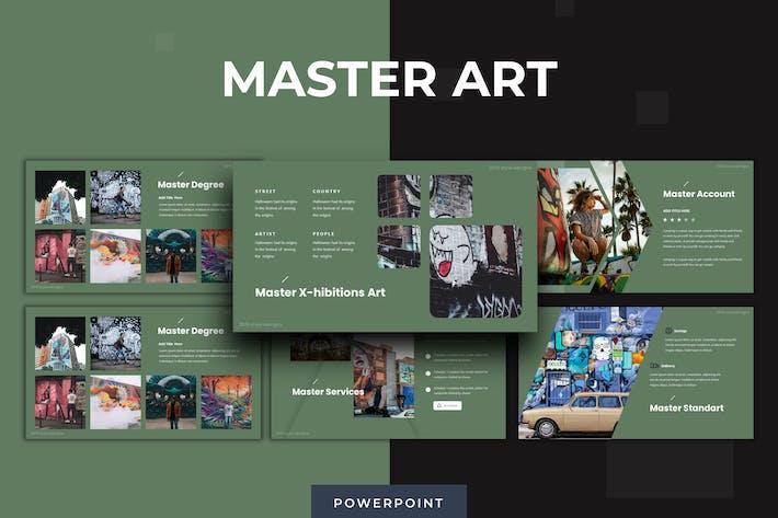 Thumbnail for Мастер искусства - Powerpoint Шаблон