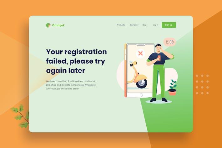 Thumbnail for App registration Vector Template Illustration