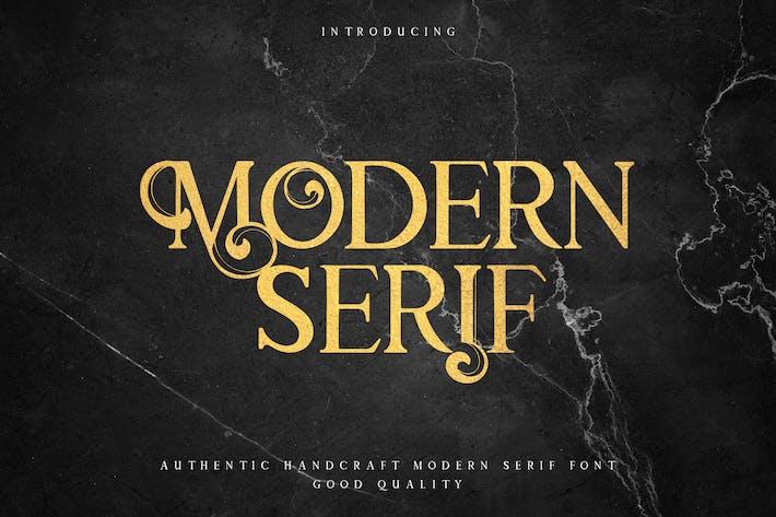 Moderno Con serifa - Elegante fuente de Con serifa