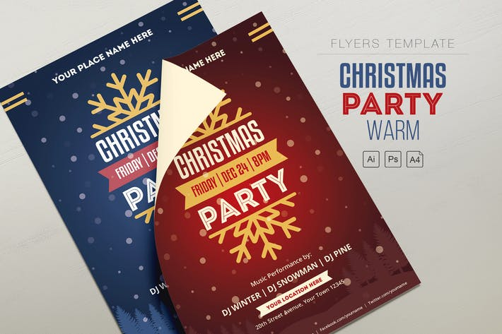 Thumbnail for Christmas-Party Flyer