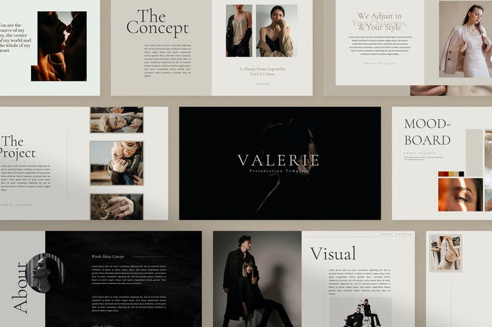 Thumbnail for Valerie - Powerpoint Template