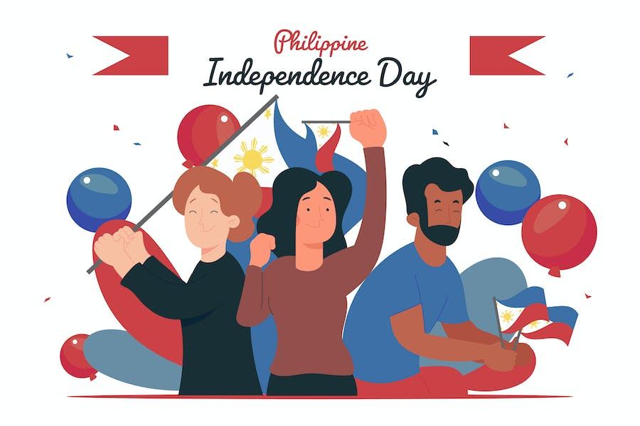 Philippines Independence Day - Flat Illustration
