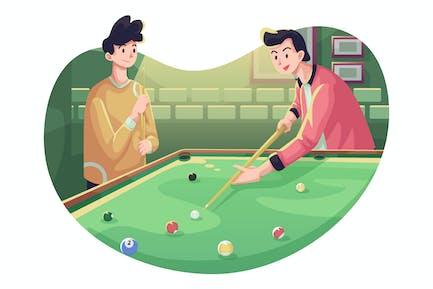 Billiard Pool Illustration